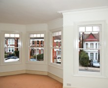 Sash window renovation and painting